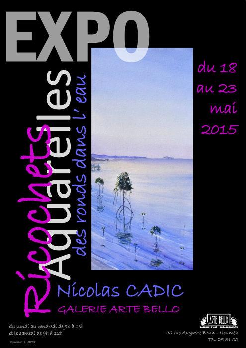 Affiche exposition Nicolas Cadic