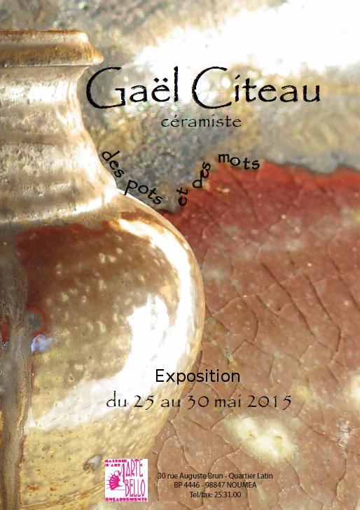 Affiche exposition Gaël CITEAU