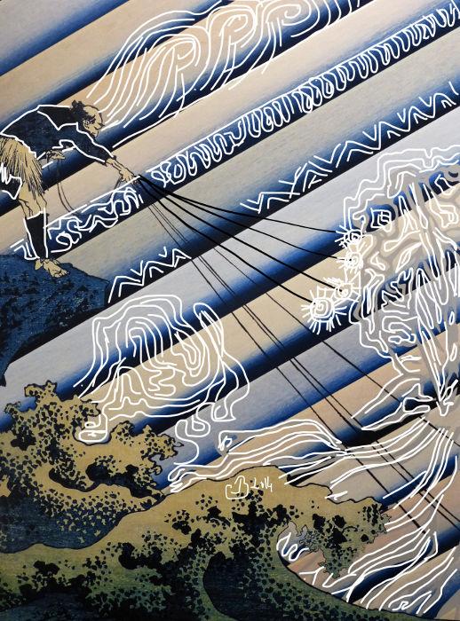 Camallonga, Pêcheurs d'Hokusai