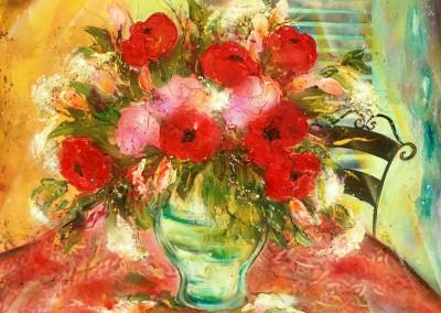 Caroline Degroiselle, Bouquet mon tendre rouge coeur 3449-40F-AC