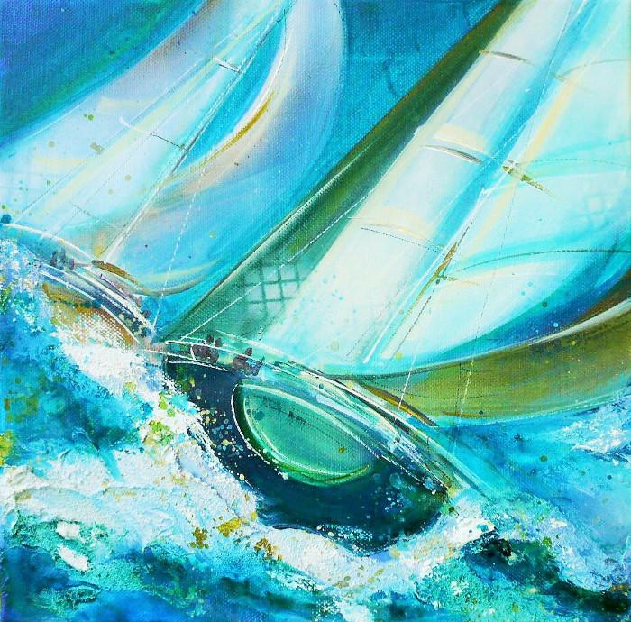 Caroline Degroiselle, Envolée en bleu marine
