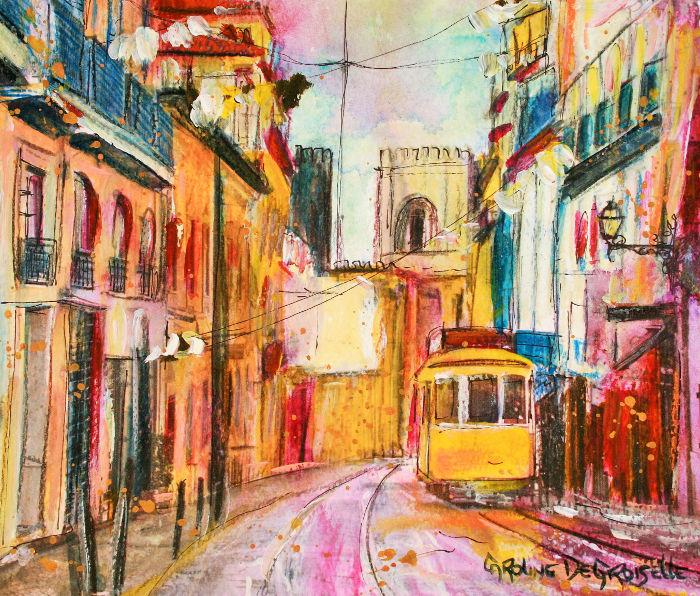 Caroline Degroiselle, Lisboa colorida 3615-AQ-30x40