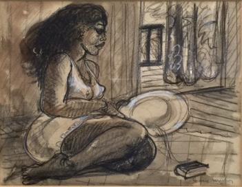 Jean Michon, Femme au chapeau