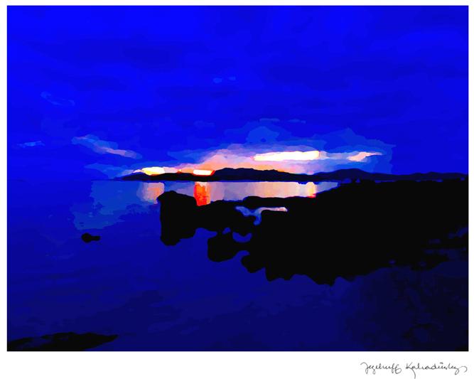 Jezebruff Kabradinsky, Couché de soleil sur Nouméa