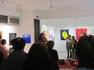 Vernissage à la galerie arte bello 2014 10 06 SKa sandra