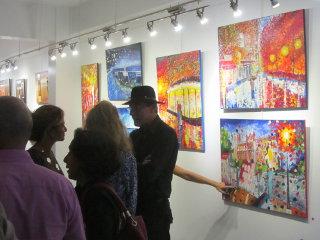 Vernissage à la galerie arte bello 2014 10 13 Eric Bernut