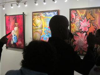 Vernissage à la galerie arte bello 2014 10 20 Alain Augias