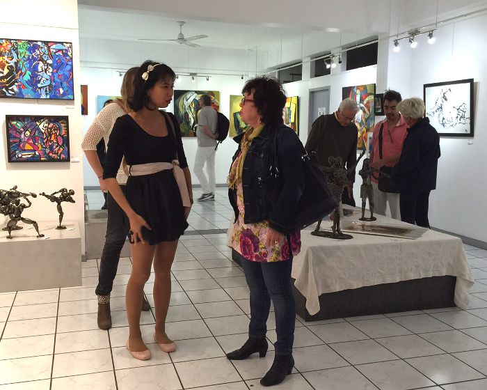 Vernissage 1, expo Abstraction