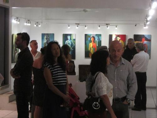 Vernissage à la galerie arte bello 2014 11 17 JC Hyvert