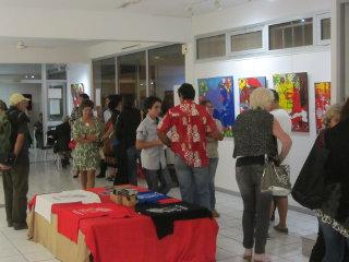 Vernissage à la galerie Arte Bello de l'exposition de Sandrina Fouache le 2014 08 04