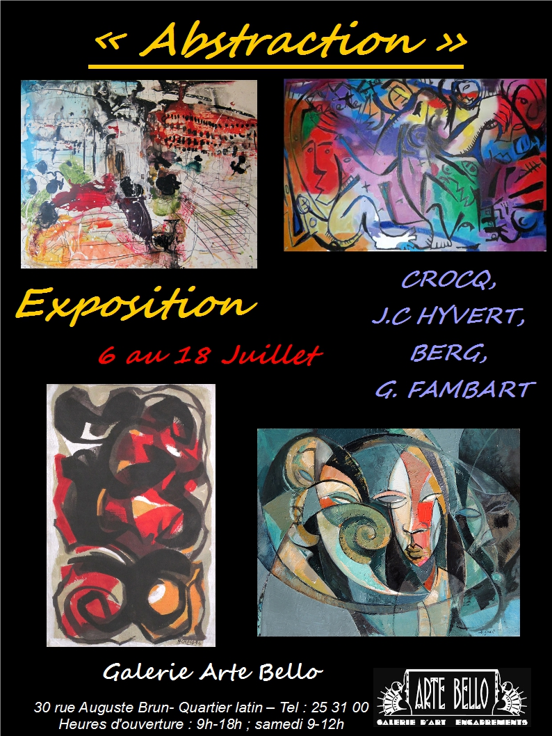 affiche, Abstraction