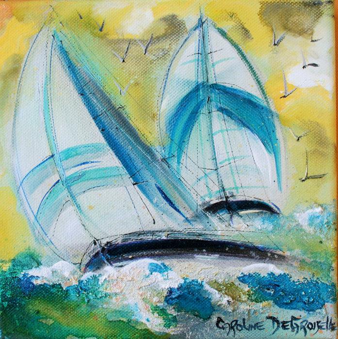 Caroline Degroiselle, La course en bleu marin 3274-20x20-AC