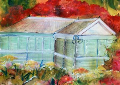 Caroline Degroiselle, , La maison au soir de braise 3527-40x50-AQ