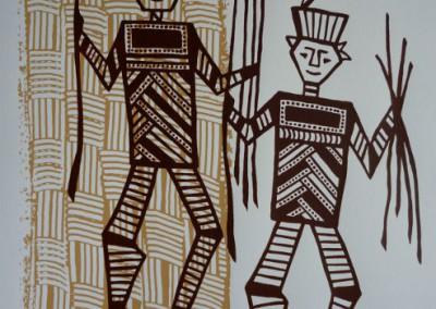 Isabelle Staron-Tutugoro, les danseurs de pilou