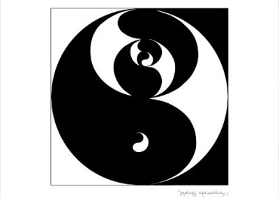 Jezebruff Kabradinsky, Yin Yang 50X51 cm, Digigraphie Collection