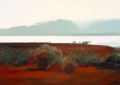 Michel Moulimois, Yaté vert 64 x 90 cm - oil x700