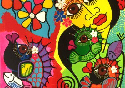 Sandrina Fouache, jardin secret, 70x70 cm